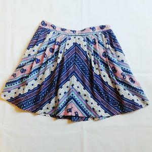 Free People Cotton Pleated Mini Skirt